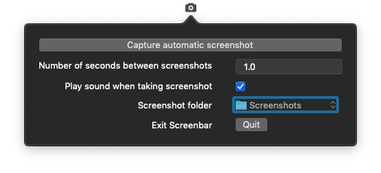 Screenbar application